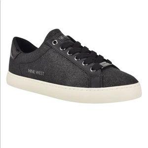 NIB Nine West Best3 black glitter sneaker size 8.5